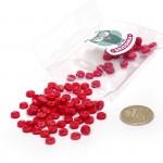 Пуговицы Мини на 2 прокола, 6 мм, уп.100шт. арт.КЛ21607 цв. красный