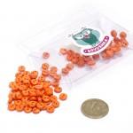 Пуговицы Мини на 2 прокола, 6 мм, уп.100шт. арт.КЛ21608 цв. оранжевый