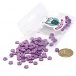 Пуговицы Мини на 2 прокола, 6 мм, уп.100шт. арт.КЛ21609 цв. фиолетовый