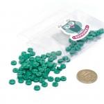 Пуговицы Мини на 2 прокола, 6 мм, уп.100шт. арт.КЛ21610 цв. зеленый