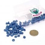 Пуговицы Мини на 2 прокола, 6 мм, уп.100шт. арт.КЛ21612 цв. синий