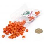 Пуговицы Мини на 2 прокола, 8 мм, уп.100шт. арт.КЛ21619 цв. оранжевый