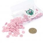 Пуговицы Мини на 2 прокола, 8 мм, уп.100шт. арт.КЛ21620 цв. розовый