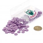 Пуговицы Мини на 2 прокола, 8 мм, уп.100шт. арт.КЛ21621 цв. фиолетовый