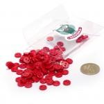 Пуговицы Мини на 2 прокола, 8 мм, уп.100шт. арт.КЛ21623 цв. красный