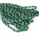 Шнур декоративный 5мм арт.ТВ DR-05 цв.052 зеленый/серебро уп.9м
