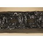 Тесьма арт.TBX.#007 с объемной нитью на сетке шир.40мм цв.черный уп.22,85м