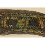 Тесьма арт.TBX.#007 с объемной нитью на сетке шир.40мм цв.зеленый уп.22,85м