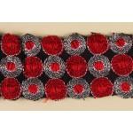 Тесьма арт.TBY-142 100% полиэстер шир.50мм цв.красный уп.5,3м