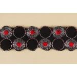 Тесьма арт.TBY-144 100% полиэстер шир.35мм цв.красный уп.5,3м