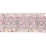 Тесьма с пайетками TBY арт.TH182 шир.38мм цв.04 розовый уп.18,28м