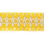 Тесьма с пайетками TBY арт.TH182 шир.38мм цв.16 желтый уп.18,28м