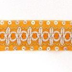 Тесьма с пайетками TBY арт.TH182 шир.38мм цв.17 оранжевый уп.18,28м
