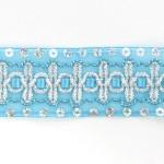 Тесьма с пайетками TBY арт.TH182 шир.38мм цв.20 голубой уп.18,28м