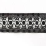 Тесьма с пайетками TBY арт.TH182 шир.38мм цв.39 черный уп.18,28м