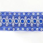 Тесьма с пайетками TBY арт.TH182 шир.38мм цв.40 синий уп.18,28м