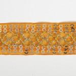 Тесьма с пайетками TBY арт.TH216 шир.25мм цв.17 оранжевый уп.18,28м
