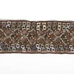 Тесьма с пайетками TBY арт.TH216 шир.25мм цв.32 коричневый уп.18,28м