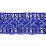 Тесьма с пайетками TBY арт.TH216 шир.25мм цв.40 синий уп.18,28м
