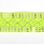 Тесьма с пайетками TBY арт.TH216 шир.25мм цв.57 салатовый уп.18,28м