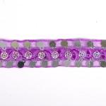 Тесьма с пайетками TBY арт.TH249 шир.20мм цв.21 фиолетовый уп.18,28м