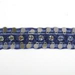 Тесьма с пайетками TBY арт.TH249 шир.20мм цв.38 синий уп.18,28м