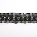Тесьма с пайетками TBY арт.TH249 шир.20мм цв.39 черный уп.18,28м