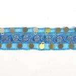 Тесьма с пайетками TBY арт.TH249 шир.20мм цв.47 голубой уп.18,28м