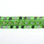 Тесьма с пайетками TBY арт.TH249 шир.20мм цв.76 зеленый уп.18,28м