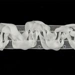 Тесьма с пайетками TBY арт.TH463-1 шир.25мм цв.01 белый уп.18,28м