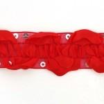 Тесьма с пайетками TBY арт.TH463-1 шир.25мм цв.26 красный уп.18,28м