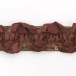 Тесьма с пайетками TBY арт.TH463-1 шир.25мм цв.32 коричневый уп.18,28м