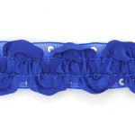 Тесьма с пайетками TBY арт.TH463-1 шир.25мм цв.40 синий уп.18,28м