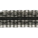 Тесьма рюш арт.TBY CS-16 2-стор. шир.50мм цв.черный уп.13.71м