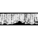Тесьма рюш арт.TBY CS-20 1-стор. шир.20мм цв.белый уп.13.71м