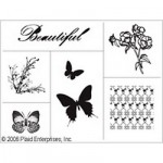 Трафарет текстильный Simply Screen. Бабочки и узоры, 20х25 см арт. PLD-98548