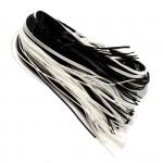 Трубочки для плетения СКУБИДУ черно-белые 1м (наб.100шт)