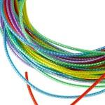 Трубочки для плетения СКУБИДУ цветные с наполнителем 1мх25