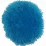 Пряжа для вязания Назар-Рус 'Помпон Меховой' (95%микроакрил,5%полиэстер) уп.9 шт цв.11 бирюза