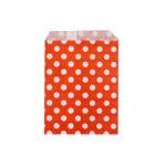Бумажные пакеты для выпечки Горох красные, 10 шт