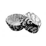 Набор бумажных форм для кексов Черный узор, диаметр дна 5 см, 50 шт