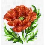 Набор для вышивания арт.РТ-H167 'Мак' 10х10 см