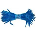Скрутки бархатные фигурные 30см цв. А018 синий уп.100шт