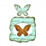 Форма для вырубки на магнитной основе Бабочки #2 Movers & Shapers Die 658367