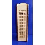 Деревянная заготовка Коробка для вина Телефонная будка 42х11х11 см DZ47695