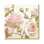 Салфетка бумажная 25 x 25 см (3 слоя, 20 шт в уп) Beauty Roses
