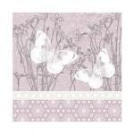 Салфетка бумажная 33 x 33 см (3 слоя, 20 шт в уп) Butterflies on linen
