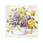 Салфетка бумажная 33 x 33 см (3 слоя, 20 шт в уп) Flower Letter