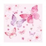 Салфетка бумажная 33 x 33 см (3 слоя, 20 шт в уп) Gentle butterflies rosa