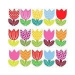 Салфетка бумажная 33 x 33 см (3 слоя, 20 шт в уп) Funny Tulips